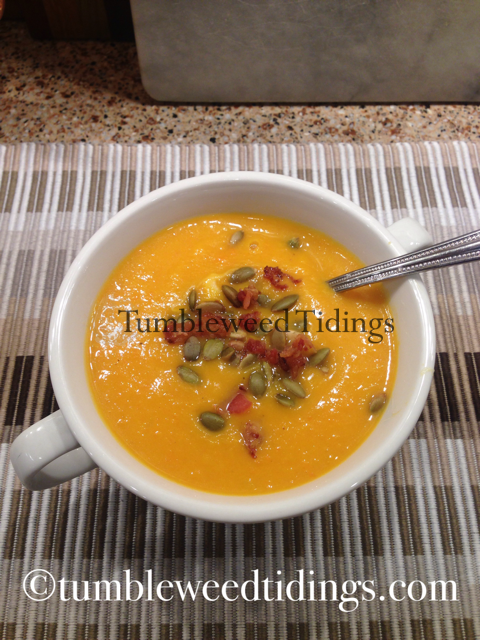 What's Cooking?  Butternut Squash Soup…
