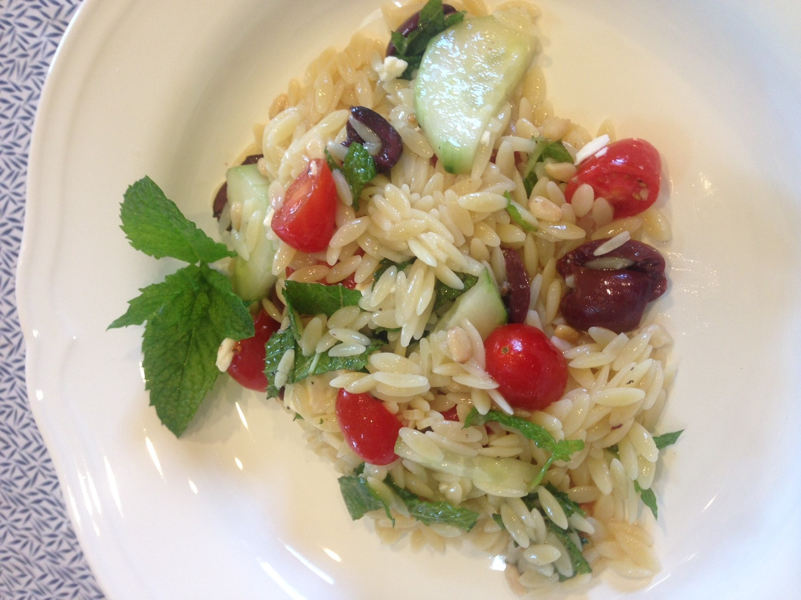 What's Cooking?  Greek Orzo Salad…