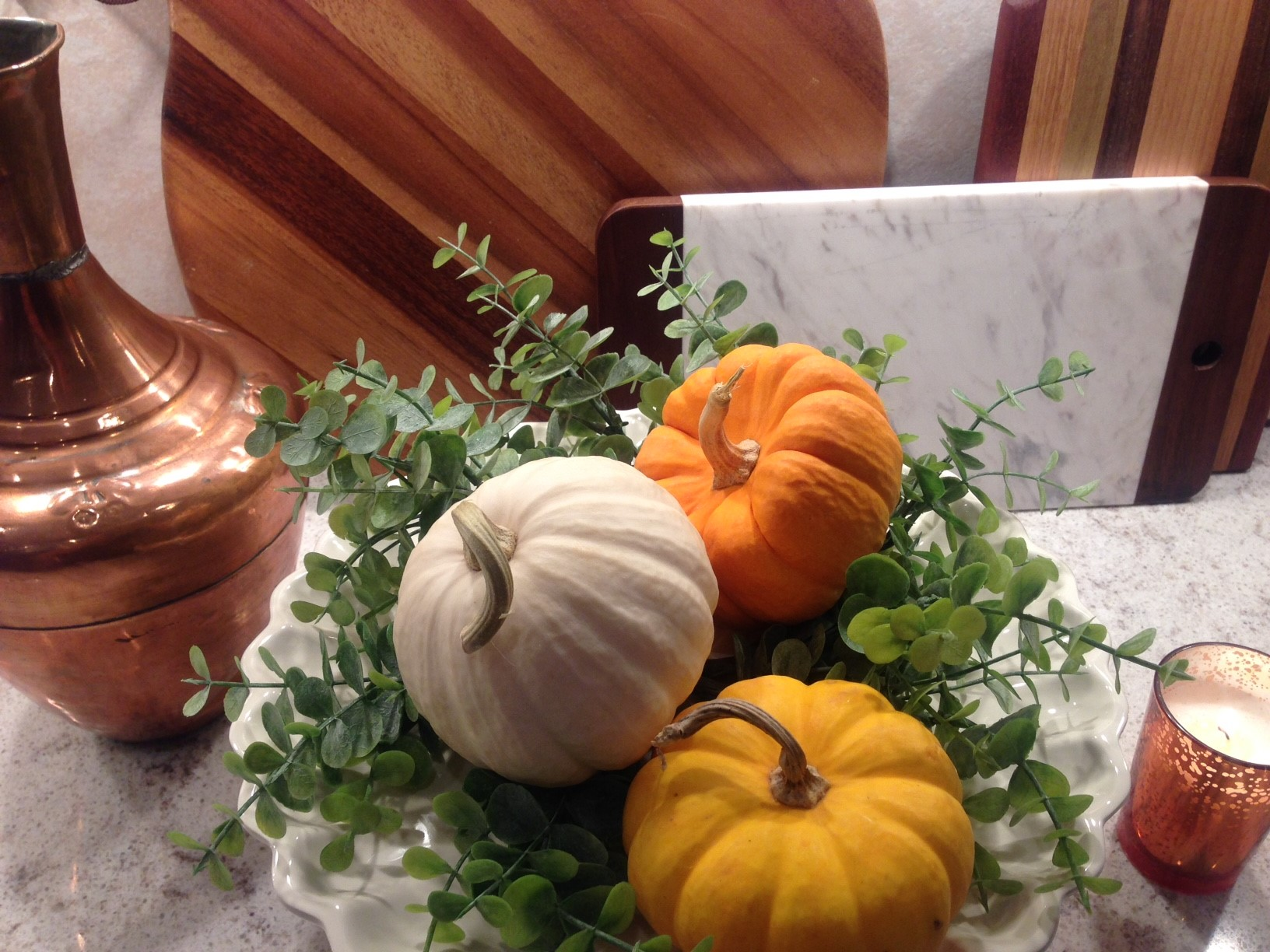 Fall Decor as Easy as 1, 2, 3…
